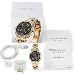 NWT Michael Kors gold smart watch